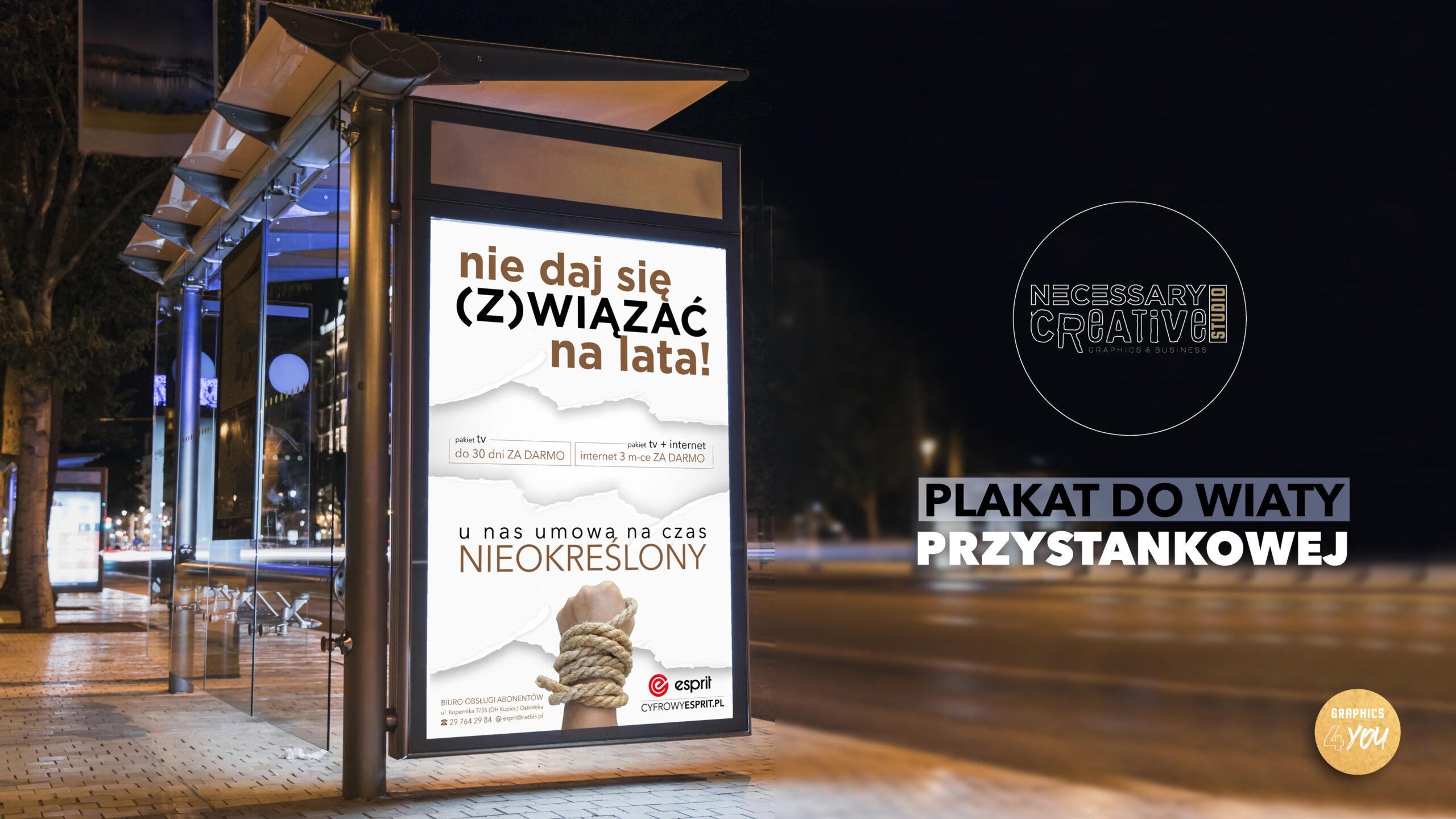 Plakaty Przystanek Projekt Plakatów Necessary Creative Studio